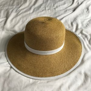 Accessories - Woven Sun Hat with White Piping